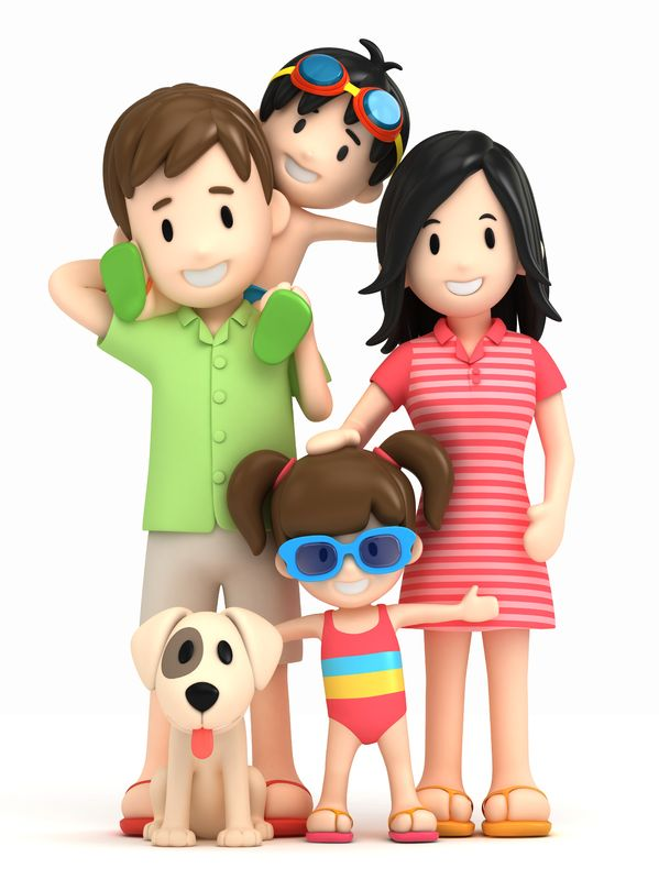 Dog Training in Ponte Vedra Beach cartoon family